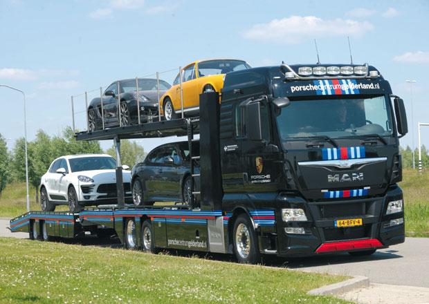MAN TGX pro přepravu vozů značky Porsche