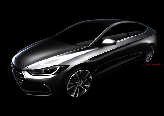 Nový Hyundai Elantra na první skice, prodej v Česku zatím nepotvrzen