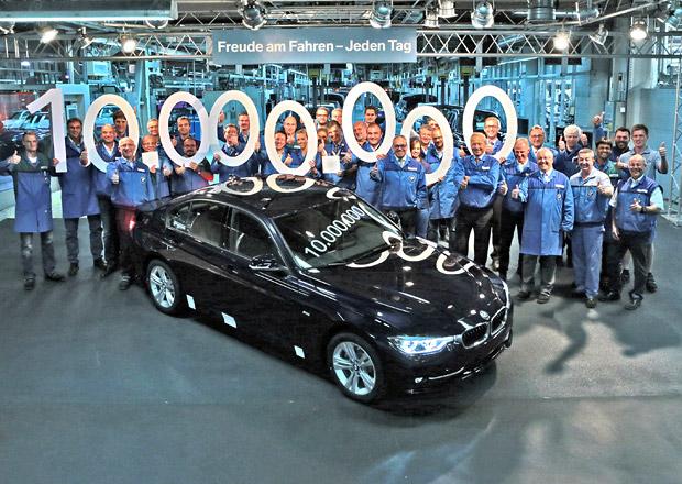 BMW slaví 10 milionů trojkových sedanů