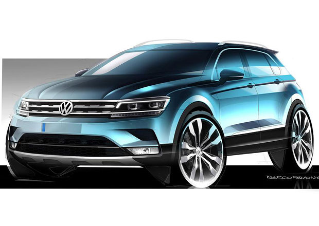 Volkswagen Tiguan se ukazuje na nových skicách, představí se již za hodiny