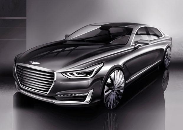 Genesis G90 na prvních skicách, luxusní sedan nahradí Hyundai Equus