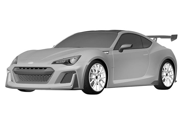 Subaru BRZ STI: Vrcholn� model na patentov�ch sn�mc�ch