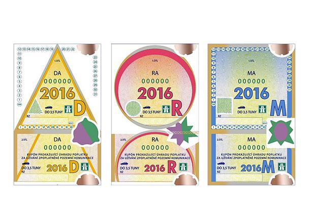 Dálniční známky pro rok 2016 se začnou prodávat, cena se nemění