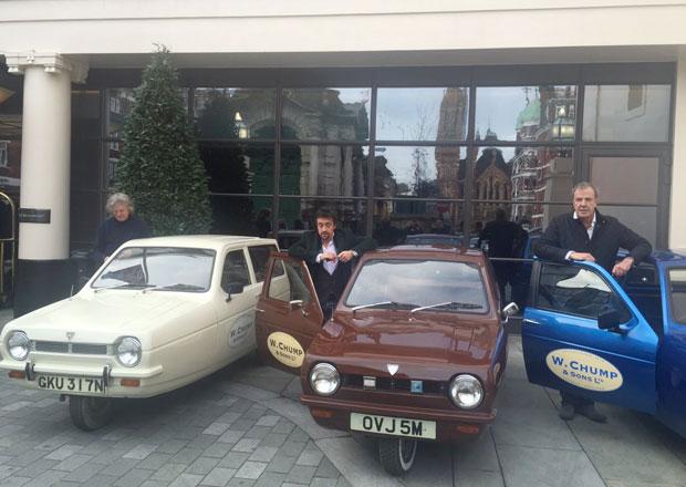 Clarkson a spol. koupili Relianty Robin jako firemní vozítka (+videa)