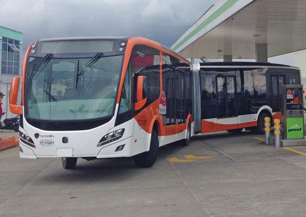 Scania a CNG autobusy pro Kolumbii