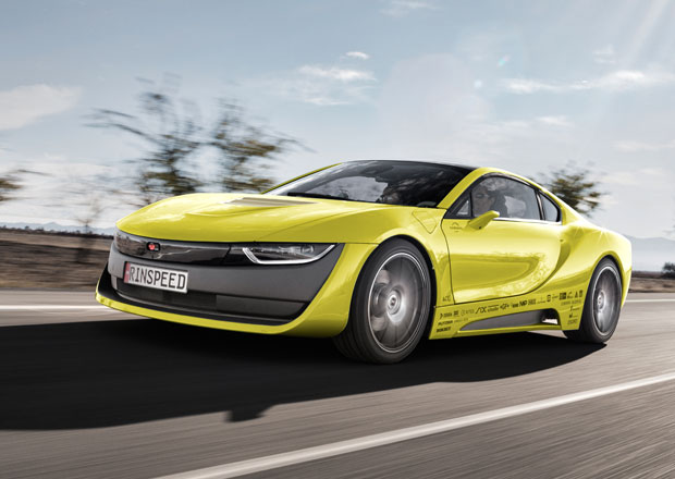 Rinspeed Etos: Koncept na z�klad� BMW i8 um� s�m ��dit a p�ist�v� na n�m dron (+video)