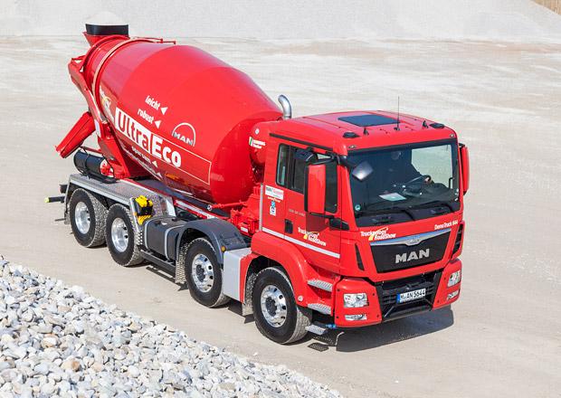 MAN TGS 32.400 8x4 BB jako domíchávač betonu