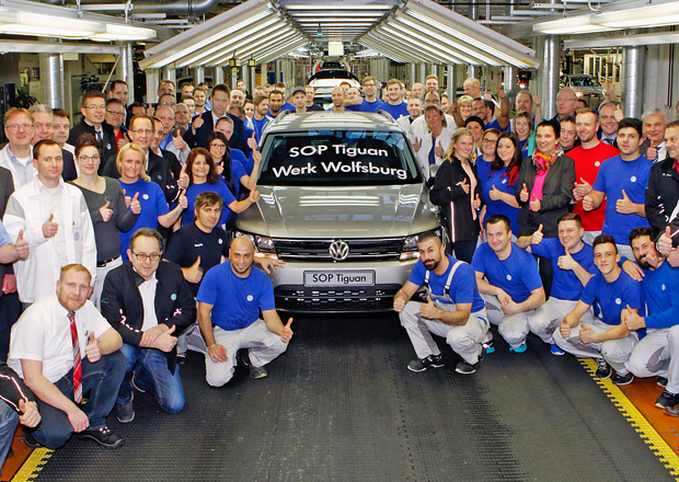 Volkswagen zahajuje sériovou výrobu druhé generace Tiguanu