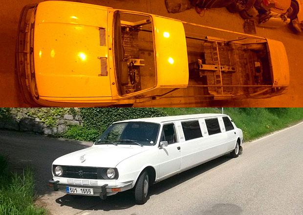 �koda 105L Limousine: Pod�vejte se, jak se prodlu�ovala!