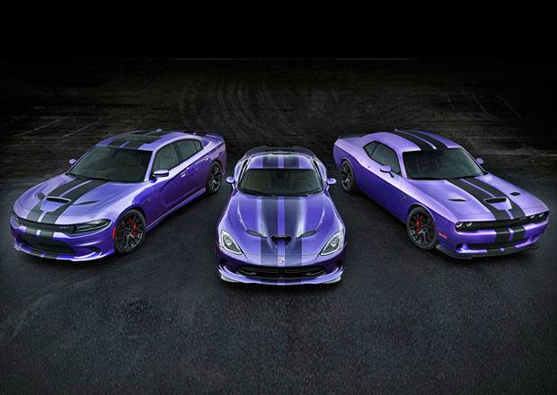 Dodge Challenger a Charger 2016: Ve znamení pruhů a fialové