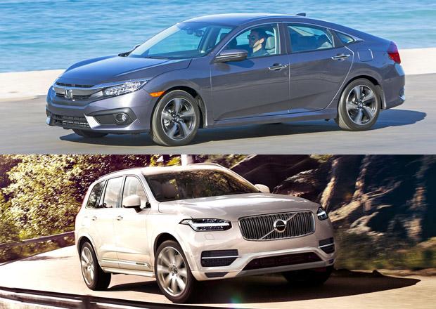 Severoamerické auto roku vyhrála Honda a Volvo