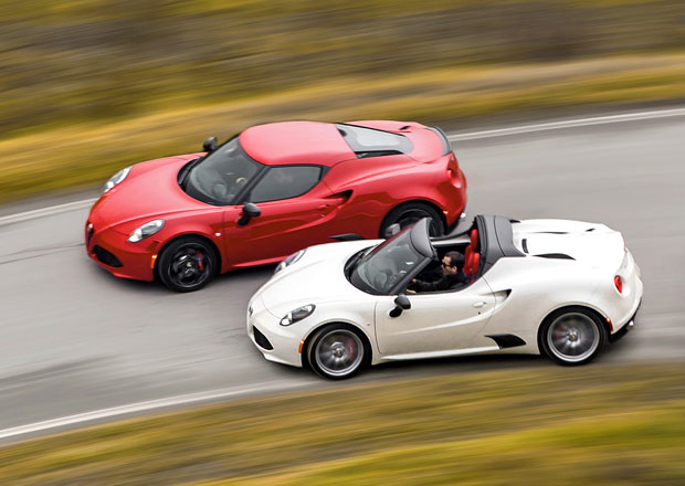 Alfa Romeo 4C a 4C Spider s menšími retušemi pro rok 2016