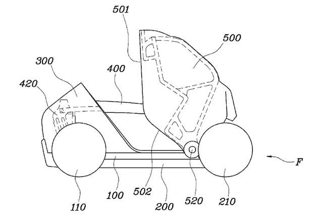 Hyundai m� patent na skl�dac� auto