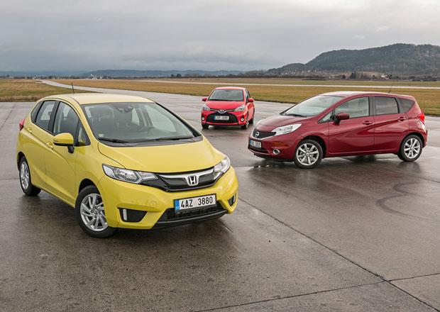 Honda Jazz vs. Nissan Note vs. Toyota Yaris – Těžká práce