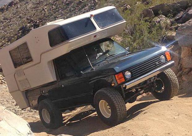 Range Rover může posloužit i jako pojízdný domov