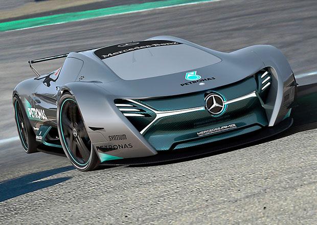 Mercedes-Benz ELK: Vize elektrick�ho supersportu s trojc�pou hv�zdou
