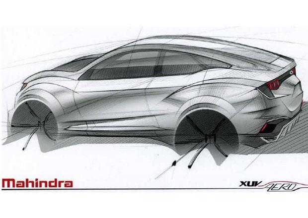 Mahindra XUV Aero: Prvn� skica konceptu indick� X6