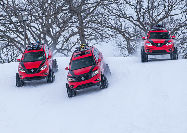 Nissan Winter Warriors: Trojice crossover� pro zimn� hr�tky (+video)