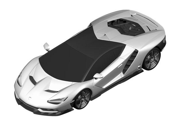 Lamborghini Centenario prozrazeno d�ky patentov�m sn�mk�m