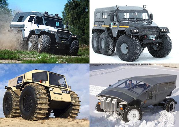 Zapome�te na Defender a Hummer: Rusk� offroady do nejt잚�ch podm�nek