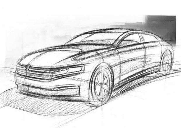 Nový Citroën C6 se poprvé ukázal na skice. Konec avantgardy?