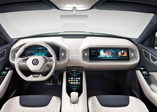 Škoda VisionS odhaluje v Ženevě svůj interiér