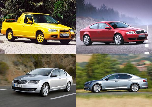 Škoda slaví 25 let pod křídly Volkswagenu. Nejzajímavější kreace této doby