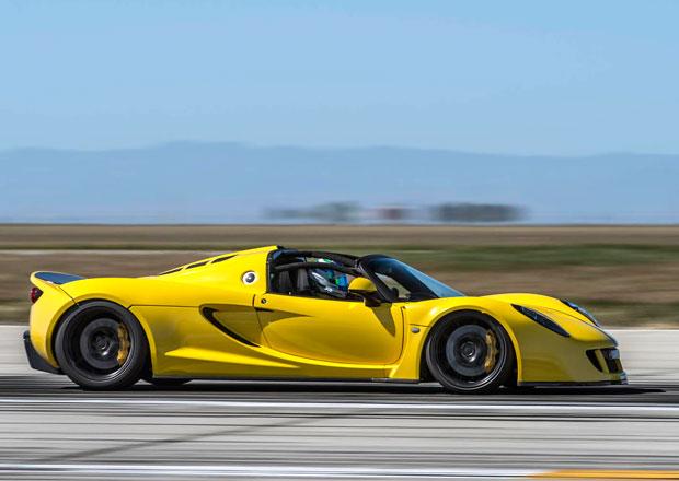 Hennessey Venom GT Spyder je nejrychlejší kabriolet na světě