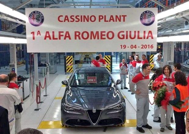 Alfa Romeo Giulia se začíná sériově vyrábět. Konečně!