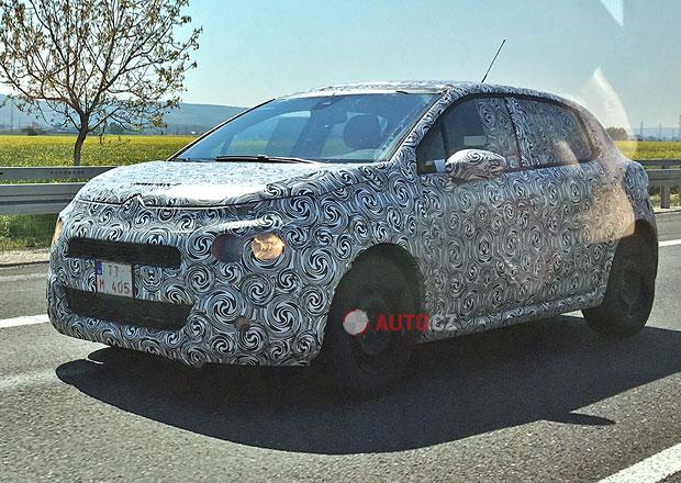 Spy photo: Maskovaný prototyp Citroënu C3 čile testuje na Slovensku