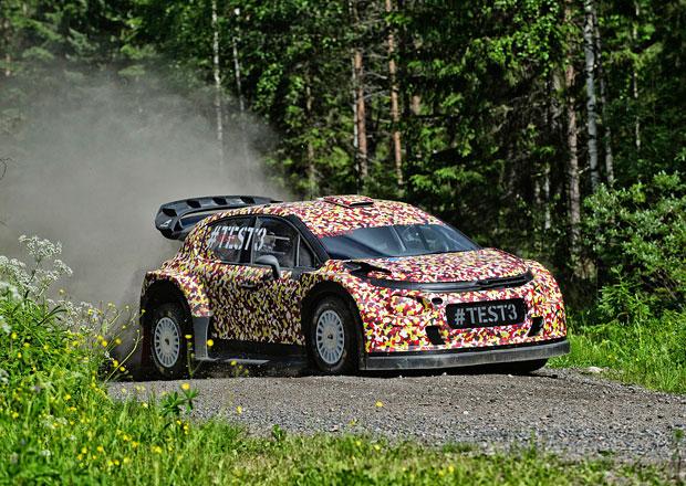 Citro�n testuje C3 WRC ve Finsku (nov� foto)