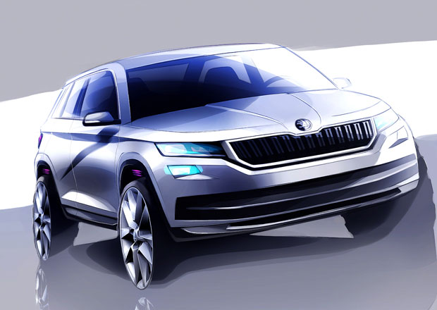 Škoda Kodiaq: Sériové SUV na prvních skicách