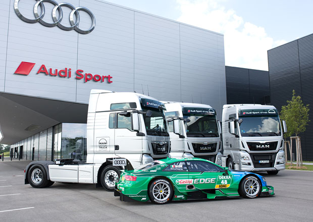 Tahače MAN TGX ve službách Audi Sport