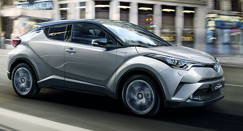 Toyota C-HR: Statick� dojmy z hlavn�ho m�sta m�dy