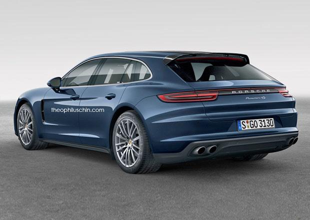 Porsche Panamera: Slibované kombi a karmínové GTS očima grafiků
