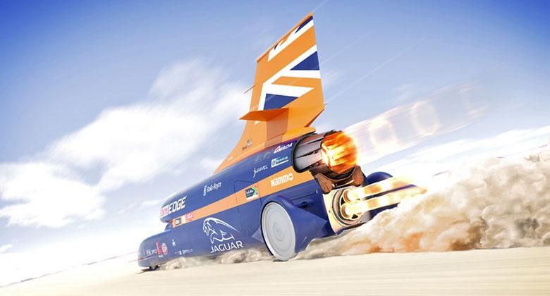 Rekordní Bloodhound SSC už přes 1600 km/h asi nepojede. Je na prodej
