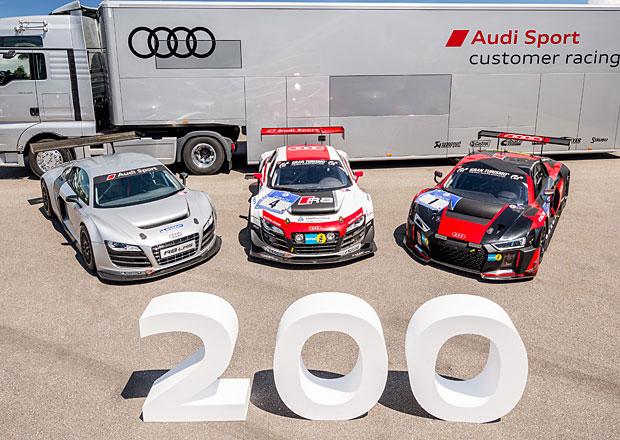 Audi R8 LMS: V Neckarsulmu vyrobili auto s pořadovým číslem 200