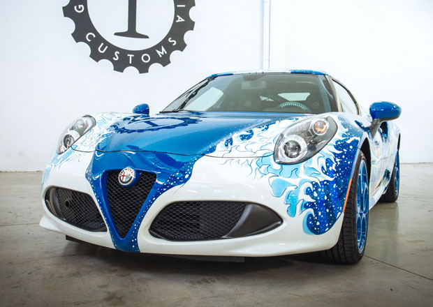 Alfa Romeo 4C Hokusai: V�stavn� kus od Garage Italia Customs