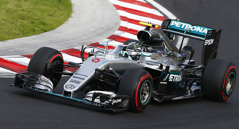 VC Ma�arska F1 2016: Divok� a dlouh� kvalifikace pat�ila Rosbergovi