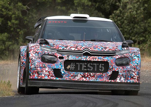 Citroën testoval C3 WRC poprvé na asfaltu
