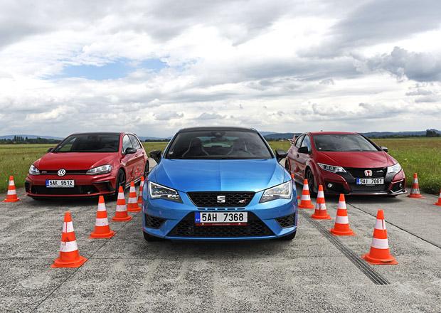 Honda Civic Type R vs. Seat Leon Cupra 290 vs. Volkswagen Golf GTI Clubsport