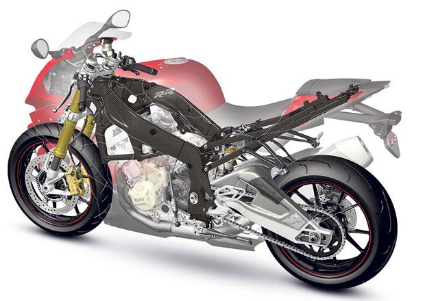 BMW vyvíjí motocyklové rámy z karbonu