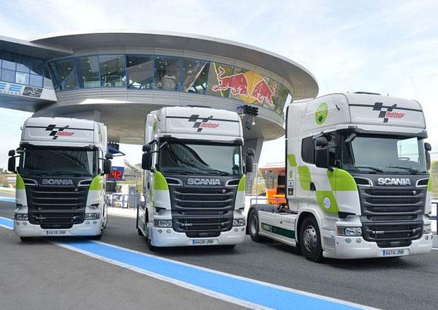 Scania a MotoGP spolupracují na snižování emisí