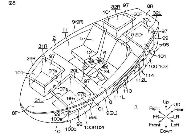 Yamaha si nechala patentovat nové auto. Je obojživelné!