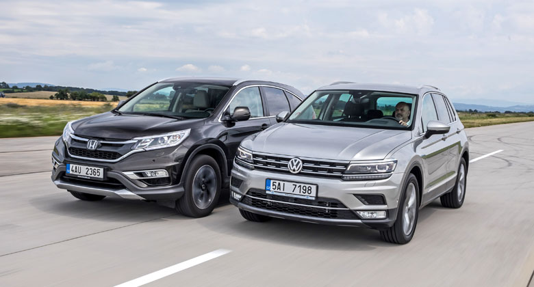 VW Tiguan 2.0 TDI 4Motion DSG7 vs. Honda CR-V 1.6 i-DTEC 4x4 9AT