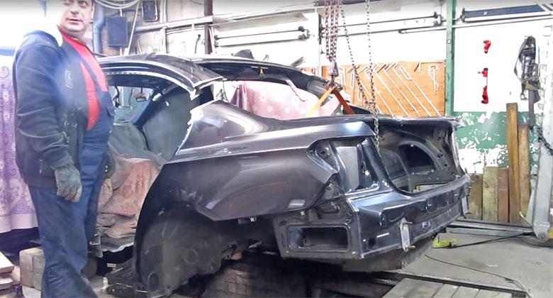Video: Rusk� zlat� ru�i�ky oprav� v�e. I zdemolovan� BMW 7