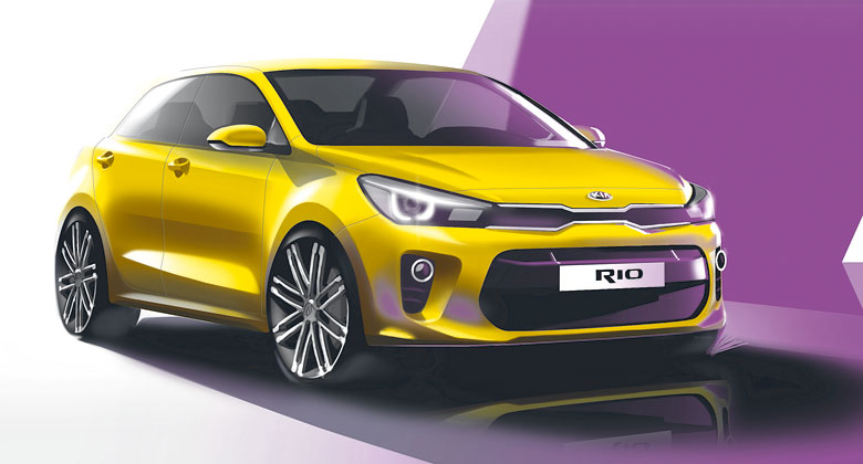 Nov� Kia Rio se uk�e u� v Pa��i. Zat�m se p�edv�d� na skic�ch