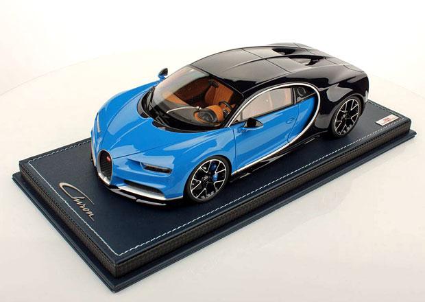 Bugatti Chiron v měřítku 1:18 vypadá jako originál. Levné ale nebude