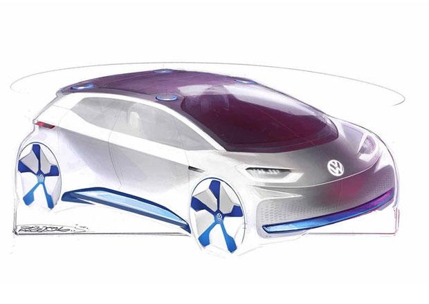 Revoluční elektrický koncept Volkswagenu na prvních skicách