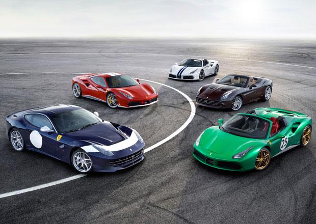 Ferrari slaví v Paříži sedmdesátiny pěticí unikátních aut